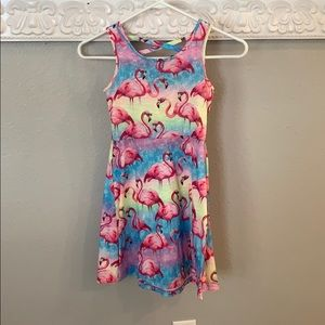 Girls size 7/8 flamingo cover up/summer dress